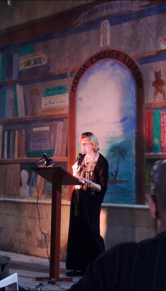 Poetry Reading Merida English Library 2013 Mexico photo courtesy of John Jennings