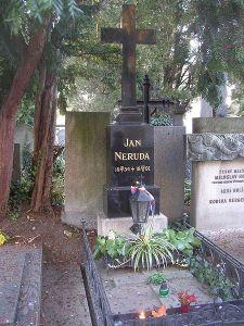 Jan Neruda's grave Vysehrad Cemetery, Prague  Photo courtesy of Miaow Miaow , October 2005