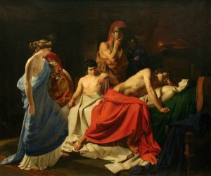 Achilles Lamenting the Death of Patroclus by Nikolai Ge