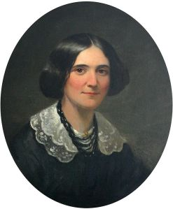 1850 portrait of Alice Cary in New York City which hangs in her childhood home in North College Hill, Ohio .Photo courtesy of Rick Dikeman