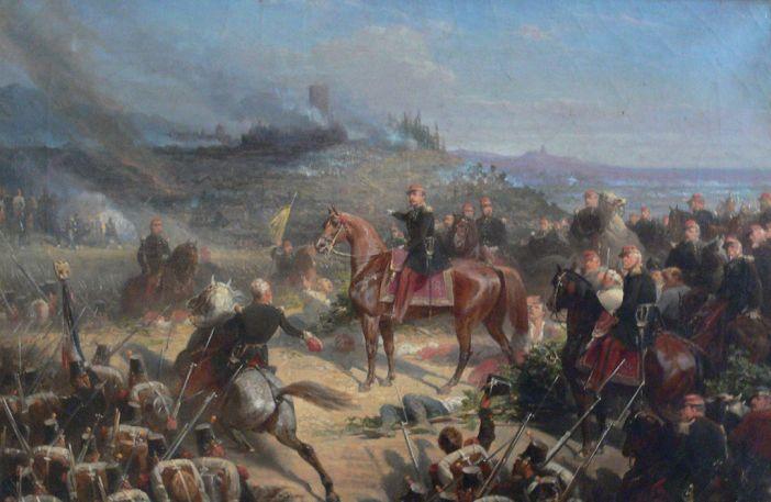 Compiègne, France: Château de Compiègne - Musée du Second Empire - Adolphe Yvon: Bataille de Solférino