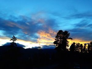 Sunset, Breckenridge, CO August 2014 photo courtesy of John Jennings