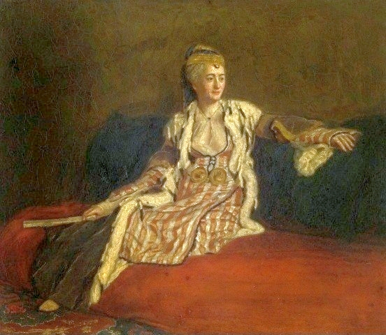 Lady Montagu in Turkish dress by Jean-Étienne Liotard, ca. 1756, Palace on the Water in Warsaw
