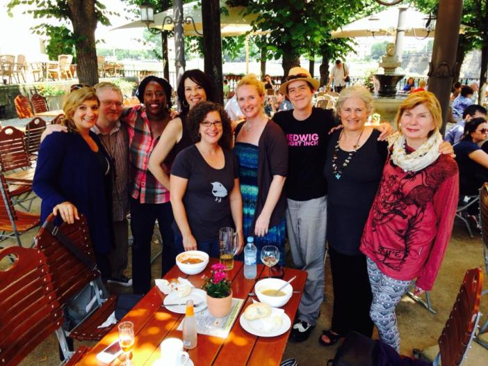 Graduating class Summer 2014 Spalding MFA in Writing. A biergarten in Dresden, Germany Photo courtesy of  Karen Chronister