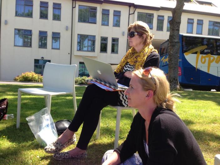 Poetry Workshop outside Galway, Ireland Photo: Maria Hofman