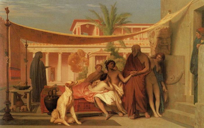Jean-Léon Gérôme (1824–1904): Socrates seeking Alcibiades in the House of Aspasia, 1861