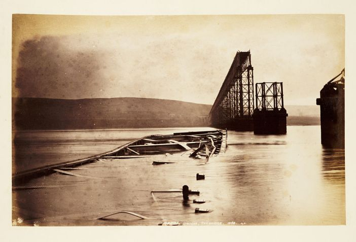 Fallen girders, Tay Bridge Scotland