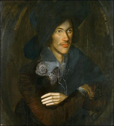 A portrait of Donne as a young man, c. 1595, artist unknown, in the collection of the National Portrait Gallery, London