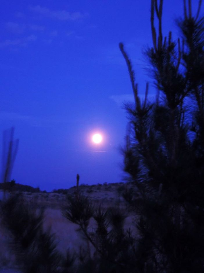 Moonrise over Mano Prieto  photo courtesy of John M. Jennings, 2013