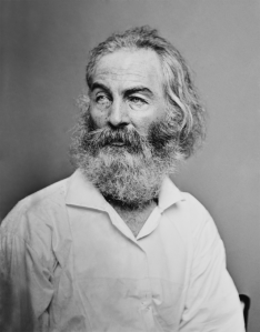 Walt Whitman as photographed by Mathew Brady