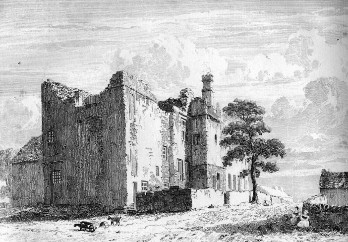 Sheffield Manor ruins as they appeared c1819