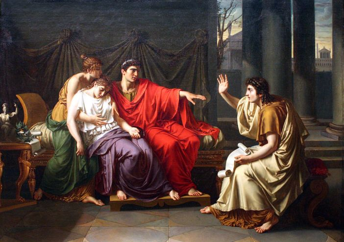 Virgil Reading the Aeneid to Augustus, Octavia, and Livia by Jean-Baptiste Wicar, Art Institute of Chicago