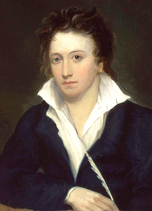 Percy Bysshe Shelley, by Alfred Clint (1819)