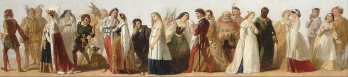 Procession of Characters from Shakespeare's Plays by an unknown artist