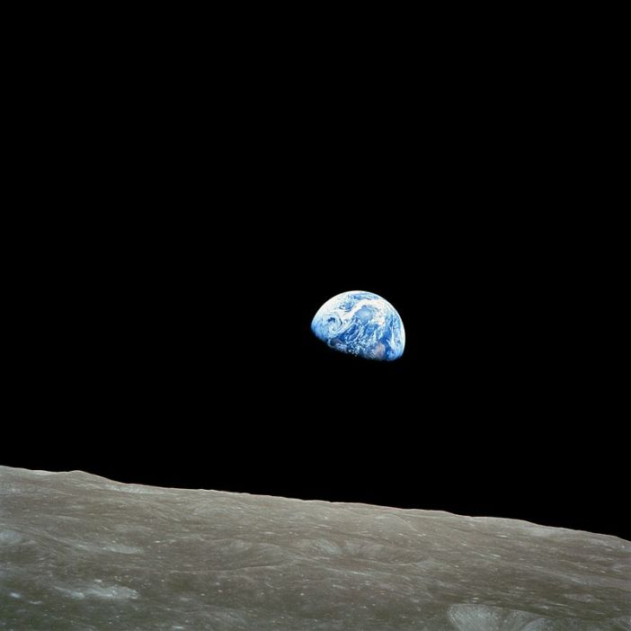Earthrise taken by Apollo 8 in 1968