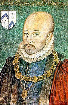 Portrait of Michel de Montaigne by Dumonstier around 1578.
