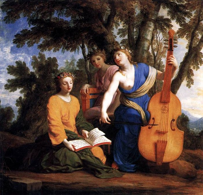 The Muses Melpomene, Erato, and Polyhymnia, by Eustache Le Sueur