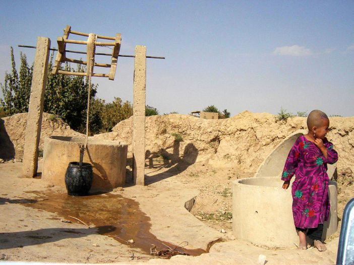A dug well in a village in Faryab Province, Afghanistan.