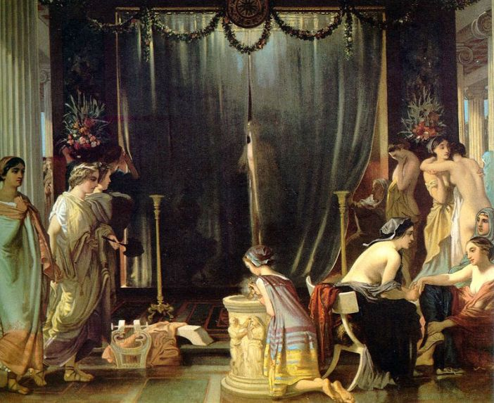 Victor Mottez, Zeuxis choosing his models (1858)