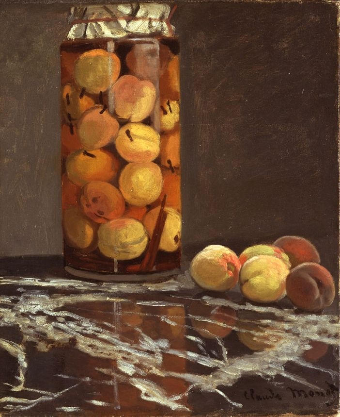Claude Monet, A jar of peaches