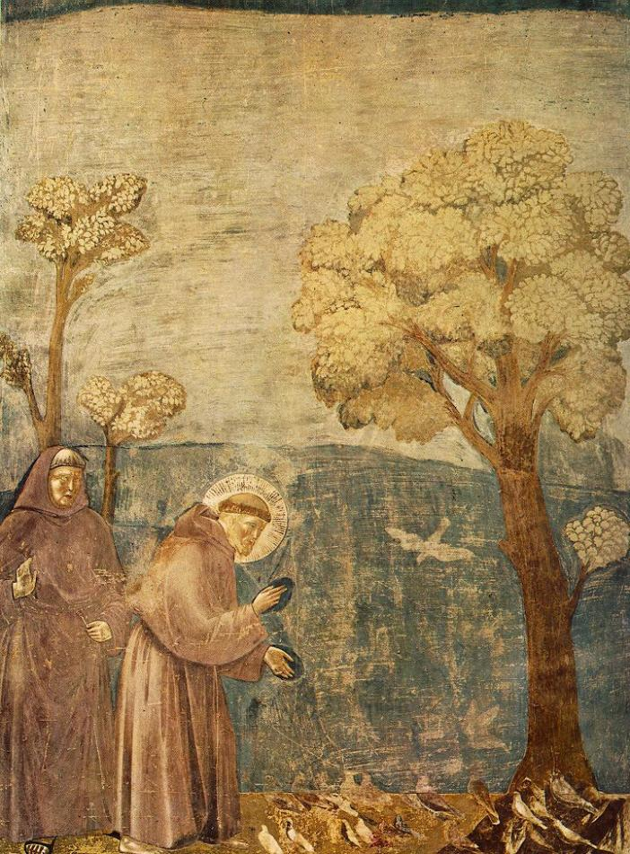 Legend of St. Francis, Sermon to the Birds, upper Basilica of San Francesco d'Assisi